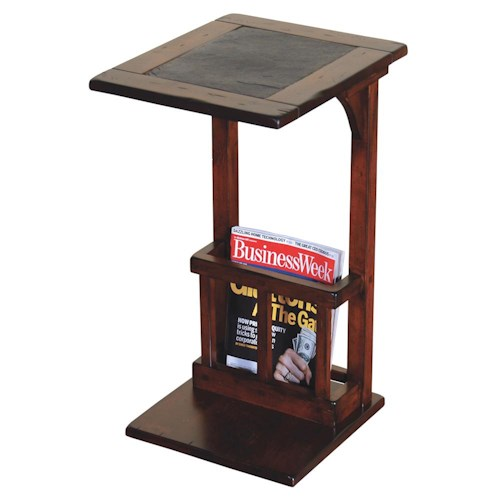 Morris Home Furnishings Morris Home Furnishings Traditional Slate Top End Table