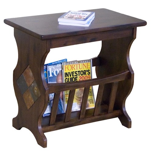 Morris Home Furnishings Morris Home Furnishings Traditional Magazine Rack End Table