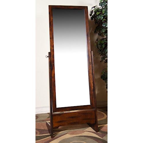 Morris Home Furnishings Morris Home Furnishings Distressed Birch Rectangular Cheval Mirror