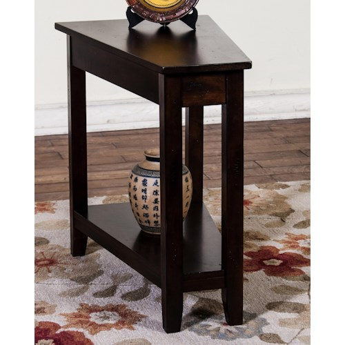 Sunny Designs Santa Fe Dark Chocolate Chair Side Table