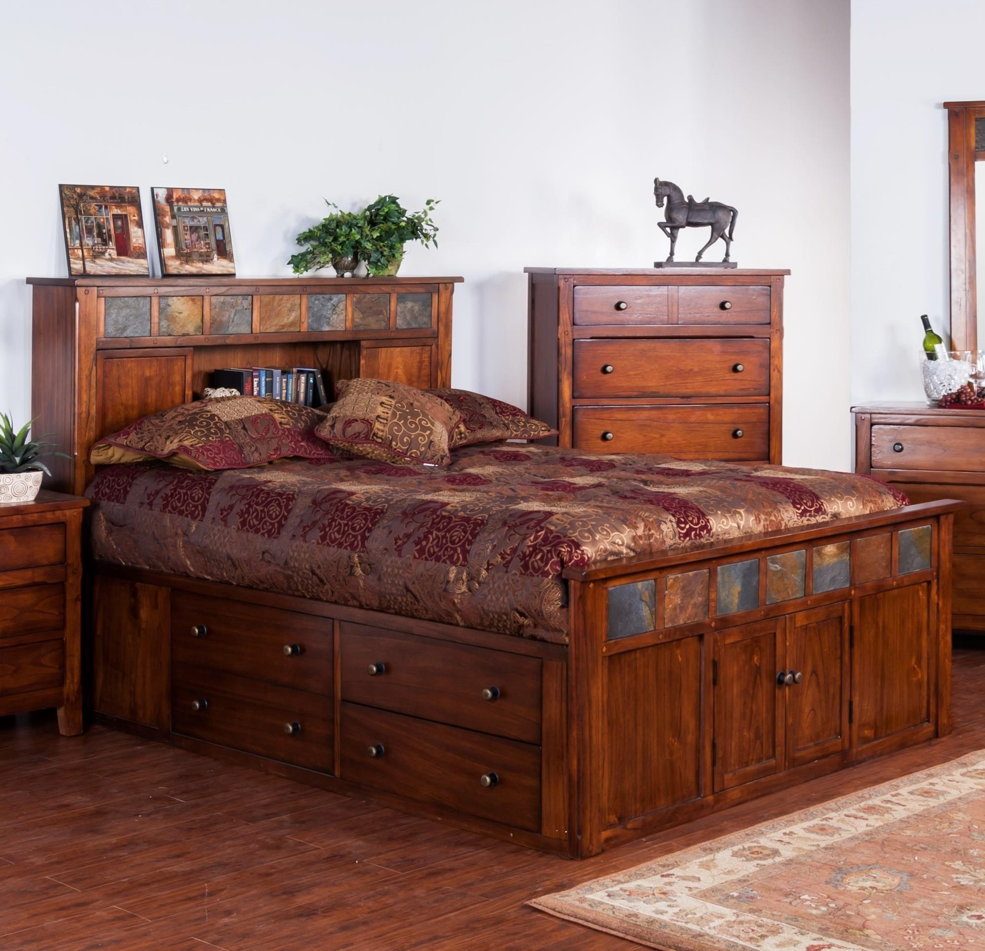 Santa Fe Bedroom Furniture Queen Storage Beds Martini Suite California King Storage Bed