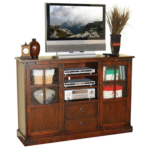 Sunny Designs Santa Fe Traditional 42 Inch Tall TV Console