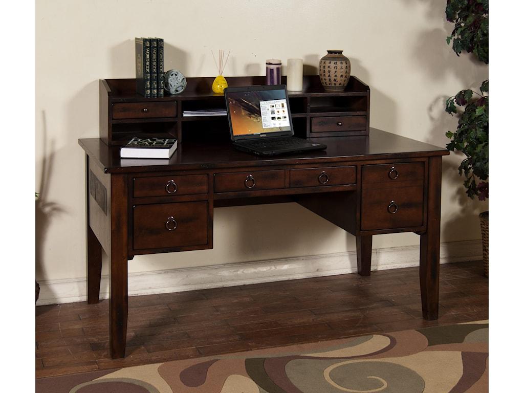 Desk Shown with Hutch