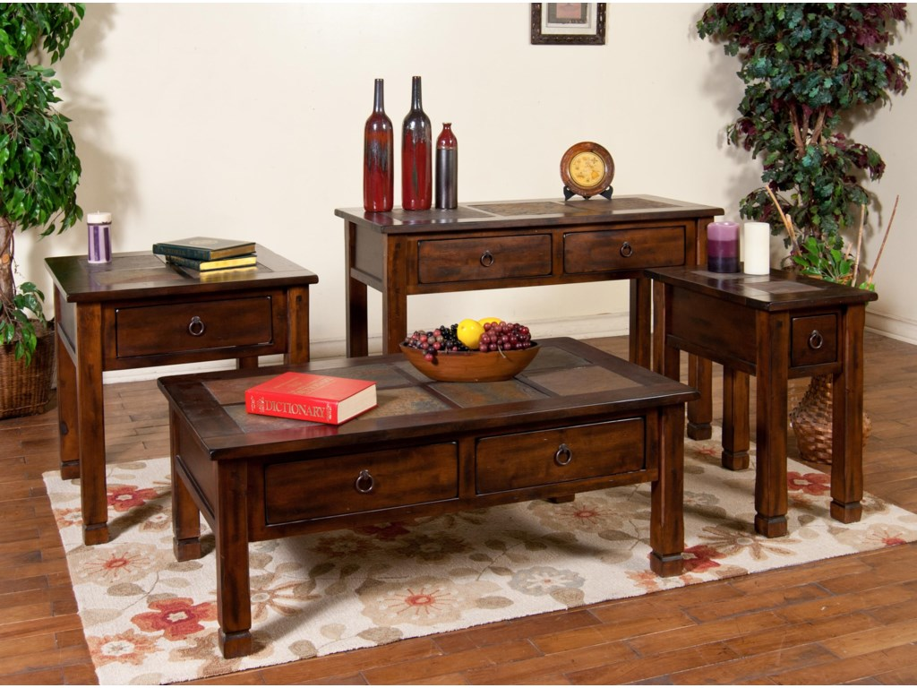 Shown with End Table, Sofa Table, and Chairside Table