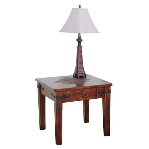 Sunny Designs Santa Fe Traditional 1 Drawer End Table