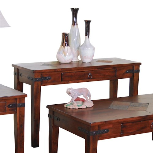 Sunny Designs Santa Fe Traditional 1 Drawer Sofa Table