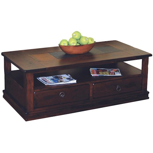 Morris Home Furnishings Morris Home Furnishings Traditional 2 Drawer Coffee Table