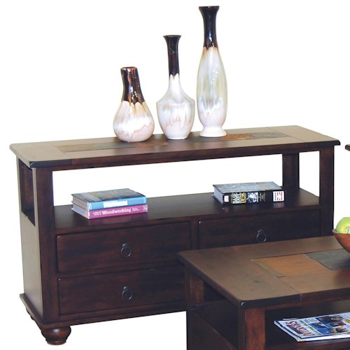 Sunny Designs Santa Fe Traditional 4 Drawer Sofa Table