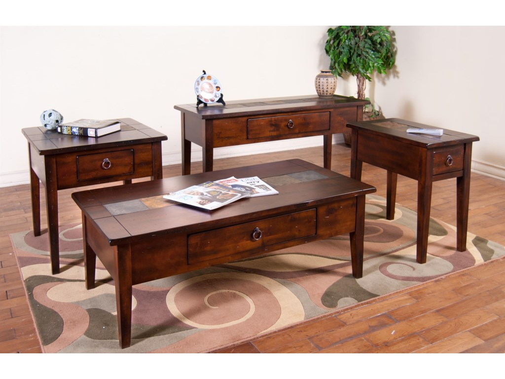 Shown with 3176 Coffee Table, Sofa/Console Table, and Chair Side Table