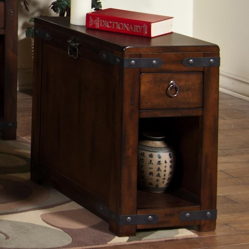 Sunny Designs Santa Fe Rustic Chair Side Table w/ Drawer & Shelf