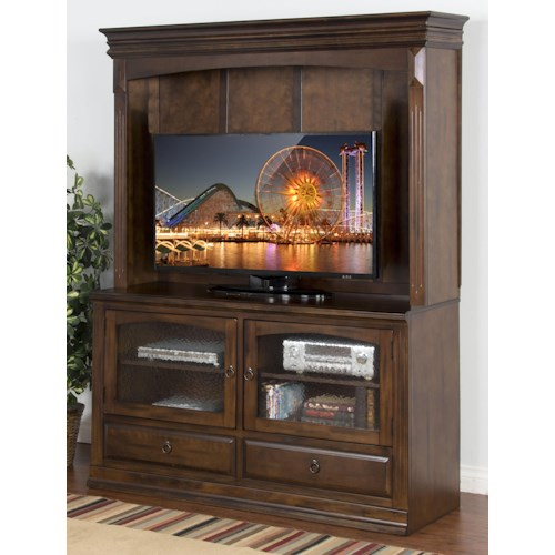 Sunny Designs Santa Fe TV Console & Hutch