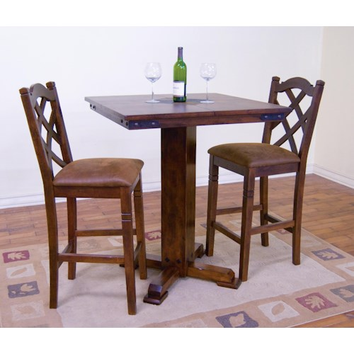 Morris Home Furnishings Morris Home Furnishings 5-Piece Pub Table Set with 4 Barstools