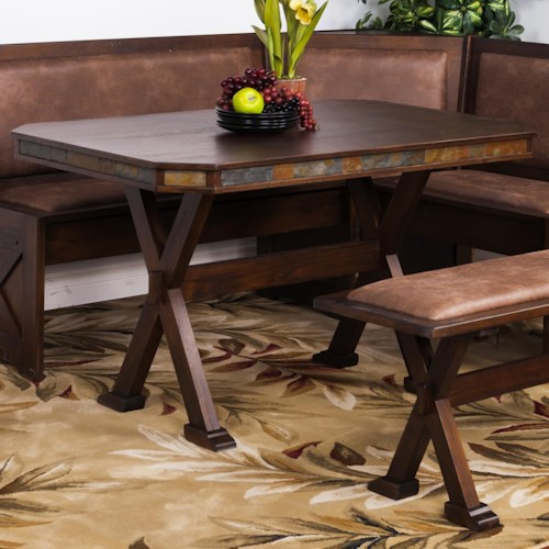 Sunny Designs Savannah Table w/ X-Base