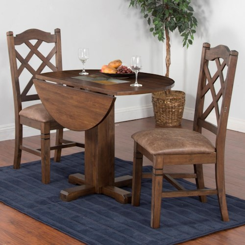 Sunny Designs Savannah 3-Piece Drop Leaf Table Set