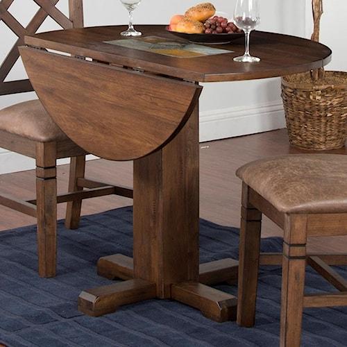 Sunny Designs Savannah Adjustable Height Drop Leaf Table