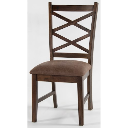 Morris Home Furnishings Shiloh Double Crossback Chair, Cushion Seat