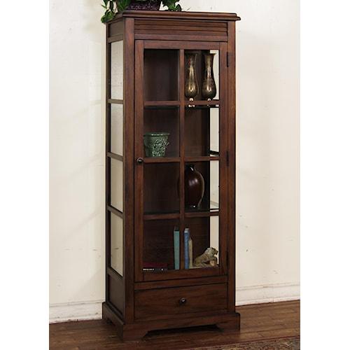 Sunny Designs Savannah Birch Curio Cabinet