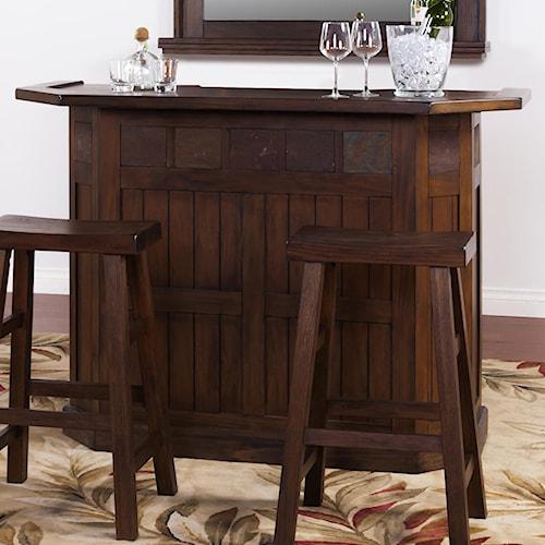 Sunny Designs Savannah Bar with Slate Tile