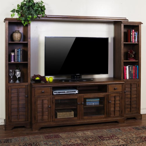 Sunny Designs Savannah Entertainment Wall Unit w/ 65