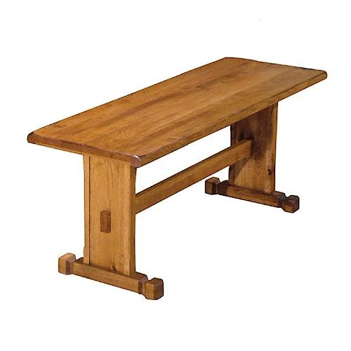 Sunny Designs Sedona Rustic Oak Side Bench