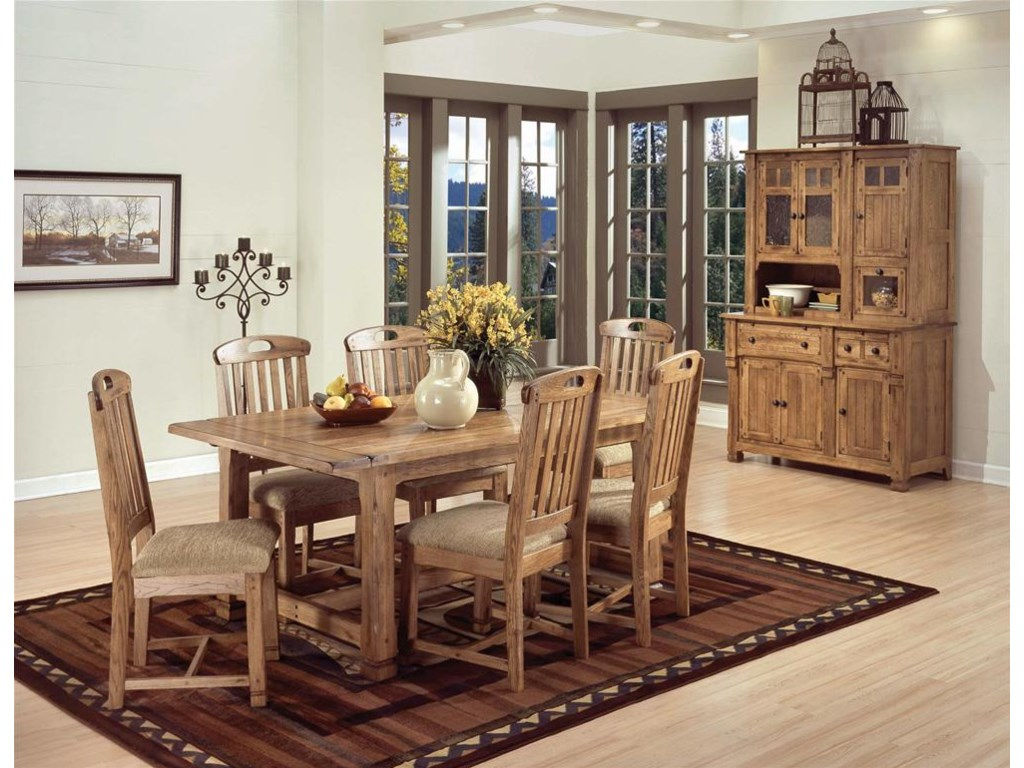 Shown as part of table set with buffet and hutch set