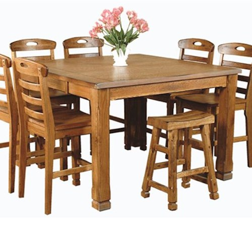 Sunny Designs Sedona Rustic Oak Family Table
