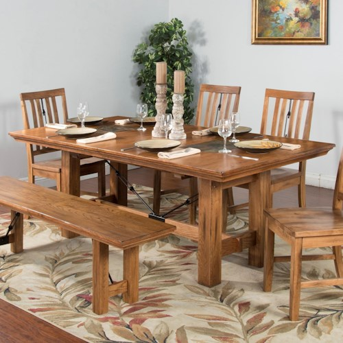 Sunny Designs Sedona Adjustable Height Dining Table w/ Butterfly Leaf