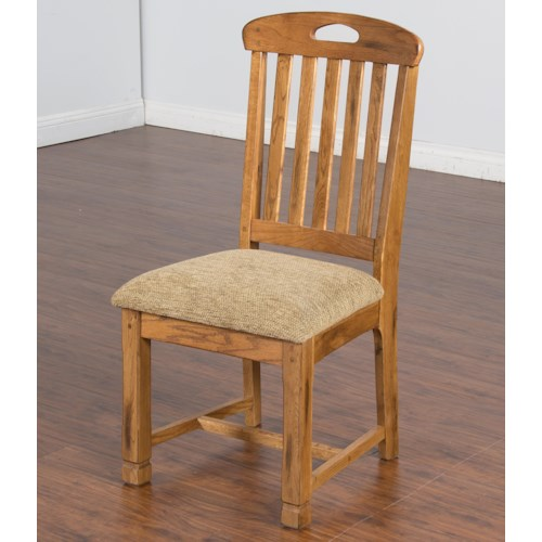 Sunny Designs Sedona Rustic Oak Slatback Side Chair