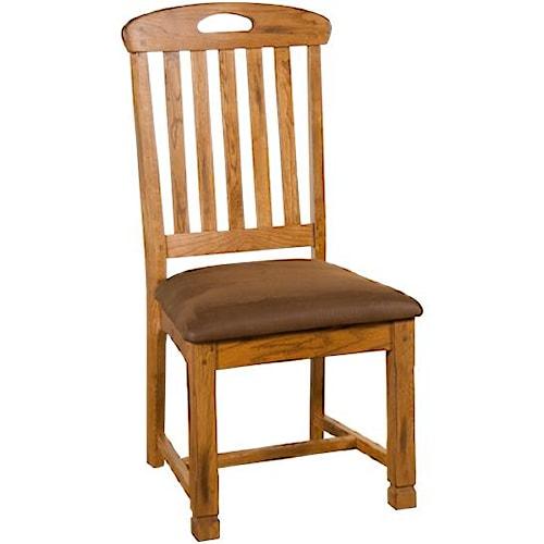 Sunny Designs Sedona Slatback Side Chair with Cushion Seat