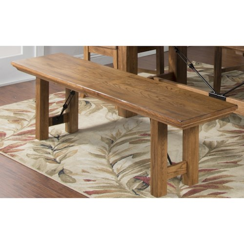 Sunny Designs Sedona Expandable Bench with Turnbuckle Accents