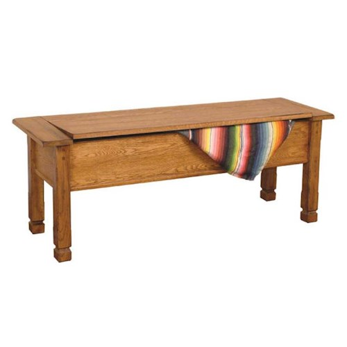 Sunny Designs Sedona Rustic Oak Side Bench with Storage