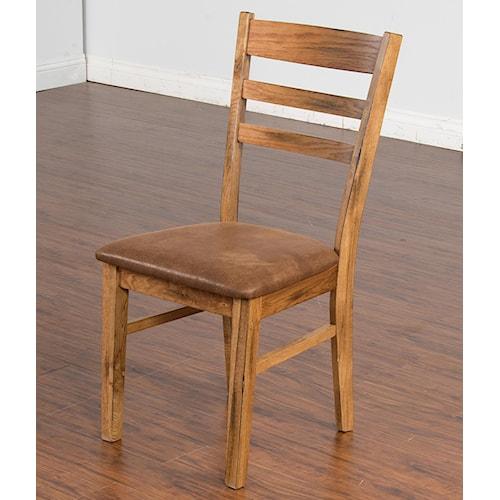 Sunny Designs Sedona Ladderback Side Chair w/ Microfiber Cushion