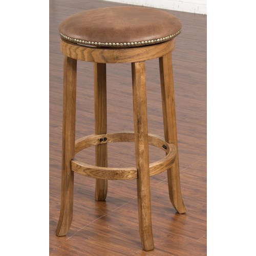 Sunny Designs Sedona Backless Upholstered Swivel Stool