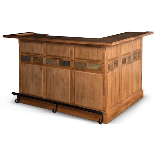 Sunny Designs Sedona Rustic Oak L-Bar with Reversible Return