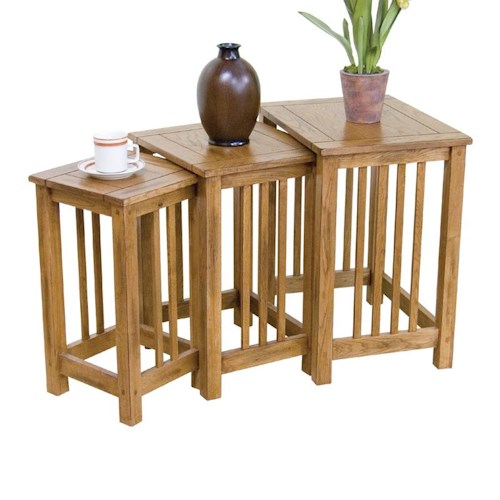 Sunny Designs Sedona 3-Piece Nesting End Table Group