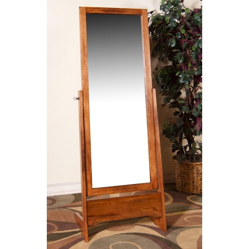 Morris Home Furnishings From Morris Home Furnishings - Distressed Oak Rectangular Cheval Mirror