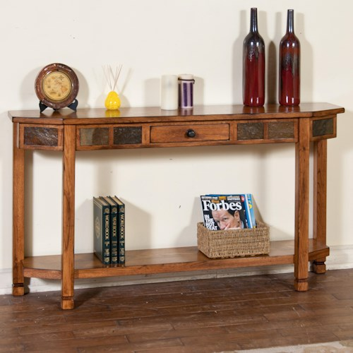 Sunny Designs Sedona Rustic Oak Entry Console with Drawer & Shelf