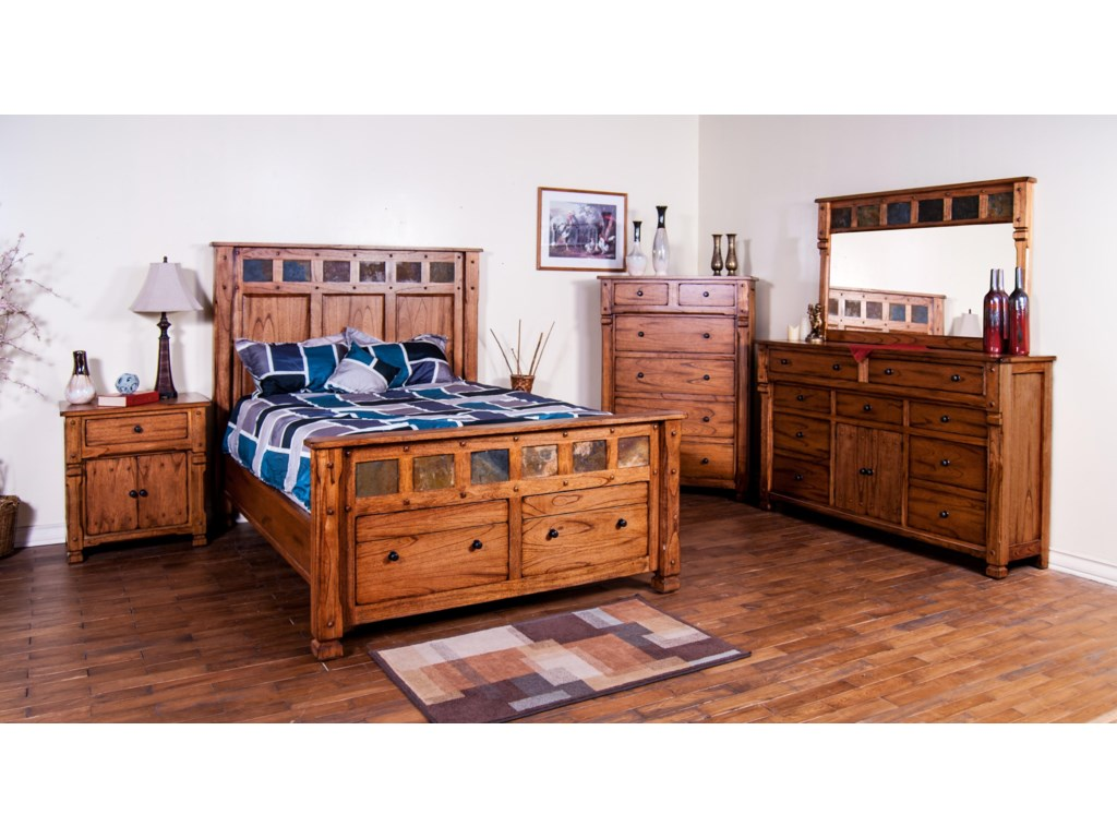 Shown with Night Stand, Storage Bed, Dresser, and Mirror