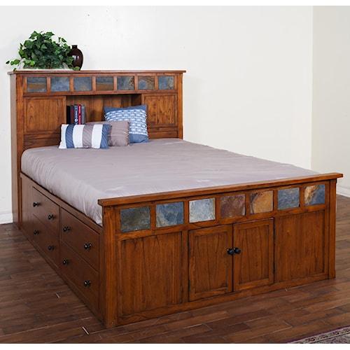 Sunny Designs Sedona California King Storage Bed w/ Slate