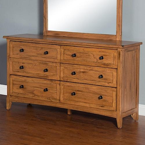 Sunny Designs Sedona Dresser with 6 Drawers