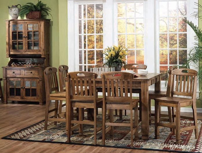 Shown with pub table set