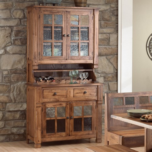 Morris Home Furnishings From Morris Home Furnishings - Rustic Oak China Buffet & Hutch