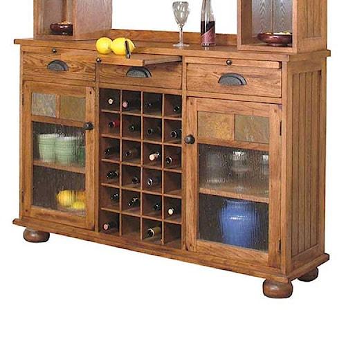 Sunny Designs Sedona Rustic Oak Server