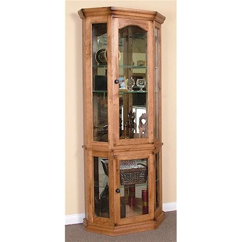 Sunny Designs Sedona 5-Side Curio Cabinet
