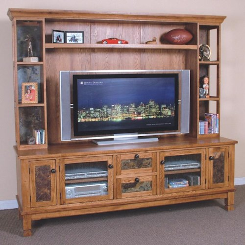 Sunny Designs Sedona Media TV Console & Hutch