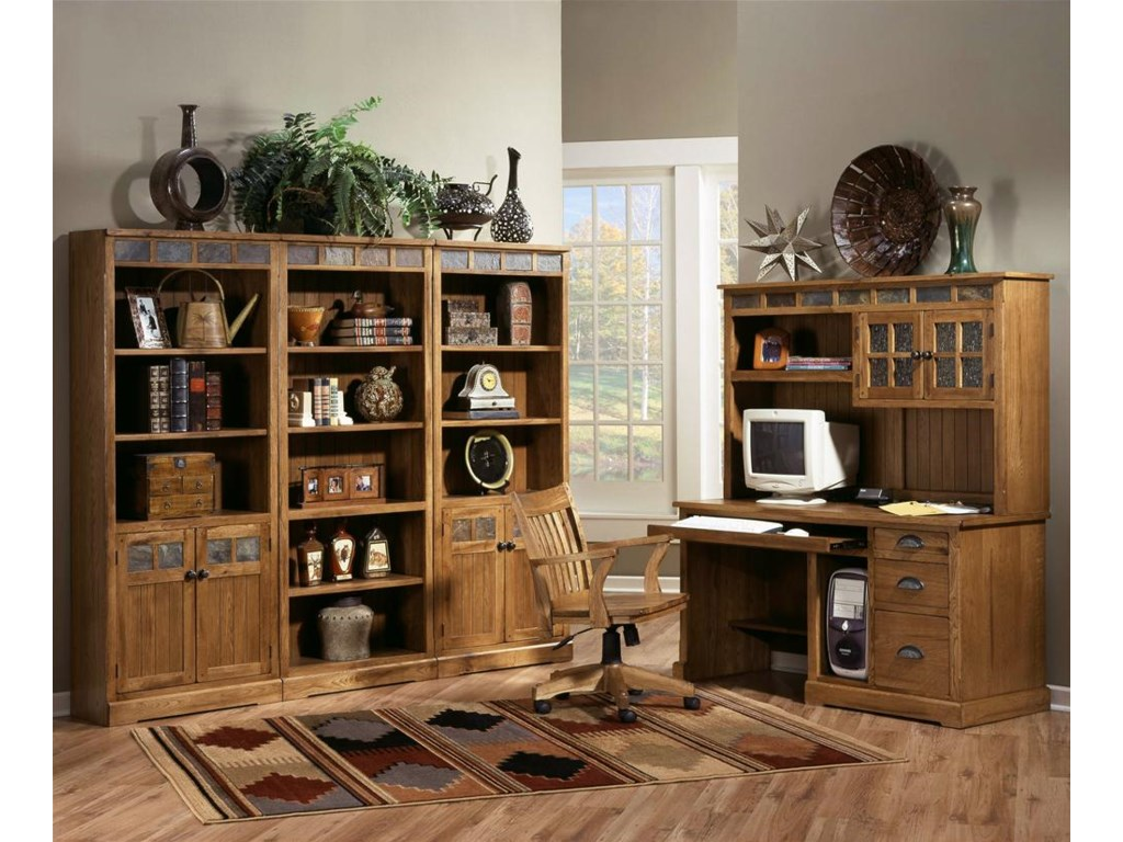 Shown with bookcase wall unit