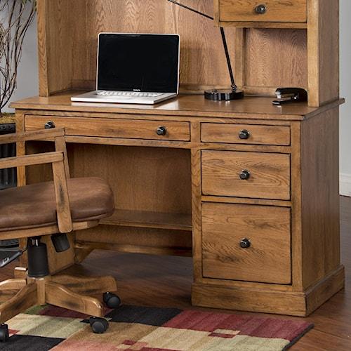 Sunny Designs Sedona Distressed Oak Single Pedestal Desk