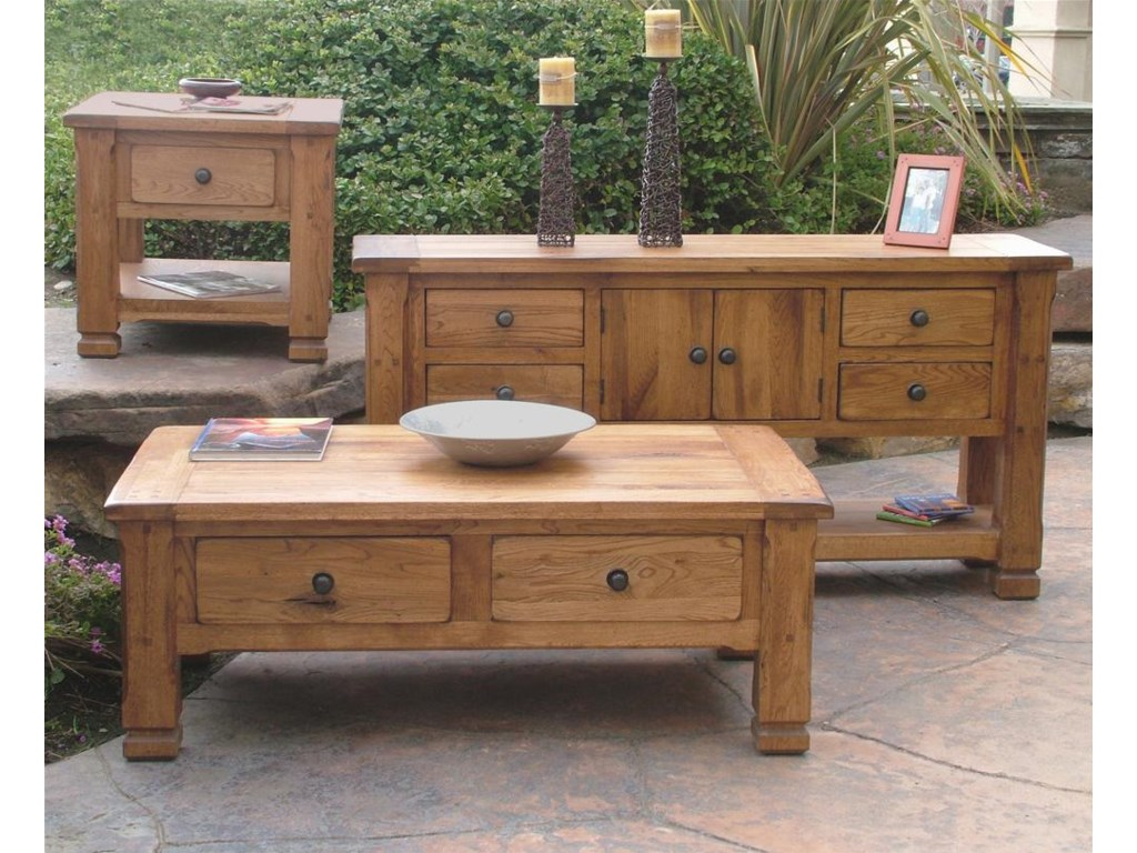 Shown with end table and sofa table
