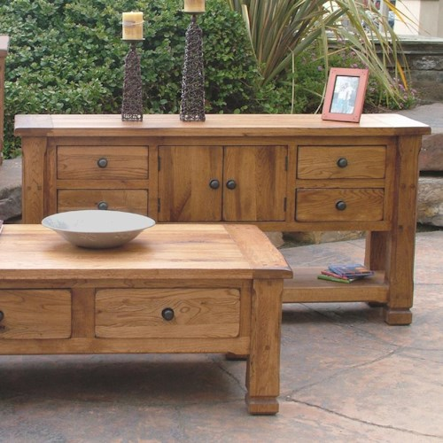 Sunny Designs Sedona Rustic Oak Sofa Table