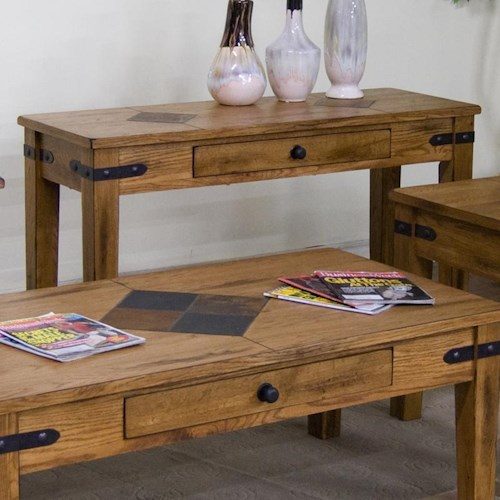 Sunny Designs Sedona Sofa Table w/ Drawer